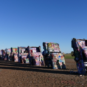 'Cadillac Ranch' , Amarillo, Texas ,1974