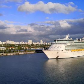 Navigator of the seas entering Miami port