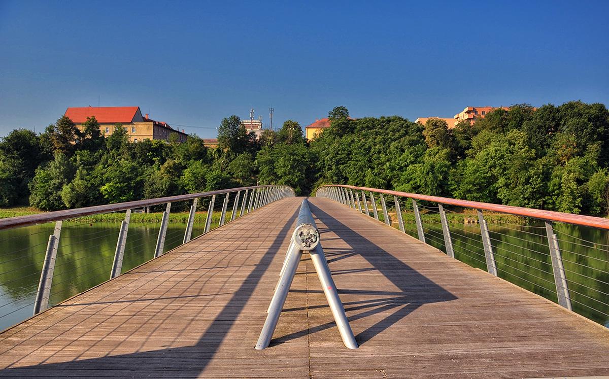 The Studenci footbridje, Maribor