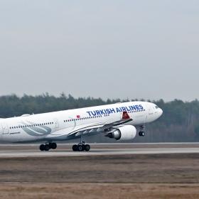 Airbus A 330 -над България  към Истанбул