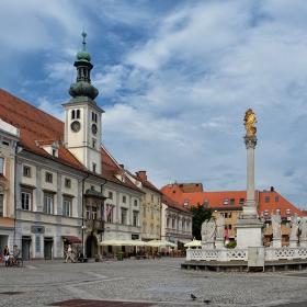 City Hall_1565г.  and  Plague Column _1743г. of Maribor