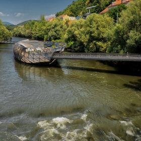 Плаващ мост Murinsel, 2003 г.