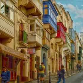 Валета - Типични малтийски балкони