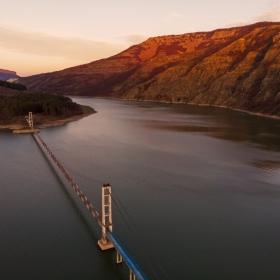 Висящият мост за село Лисиците