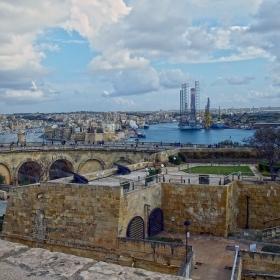 Валета - Поглед от крепостната стена