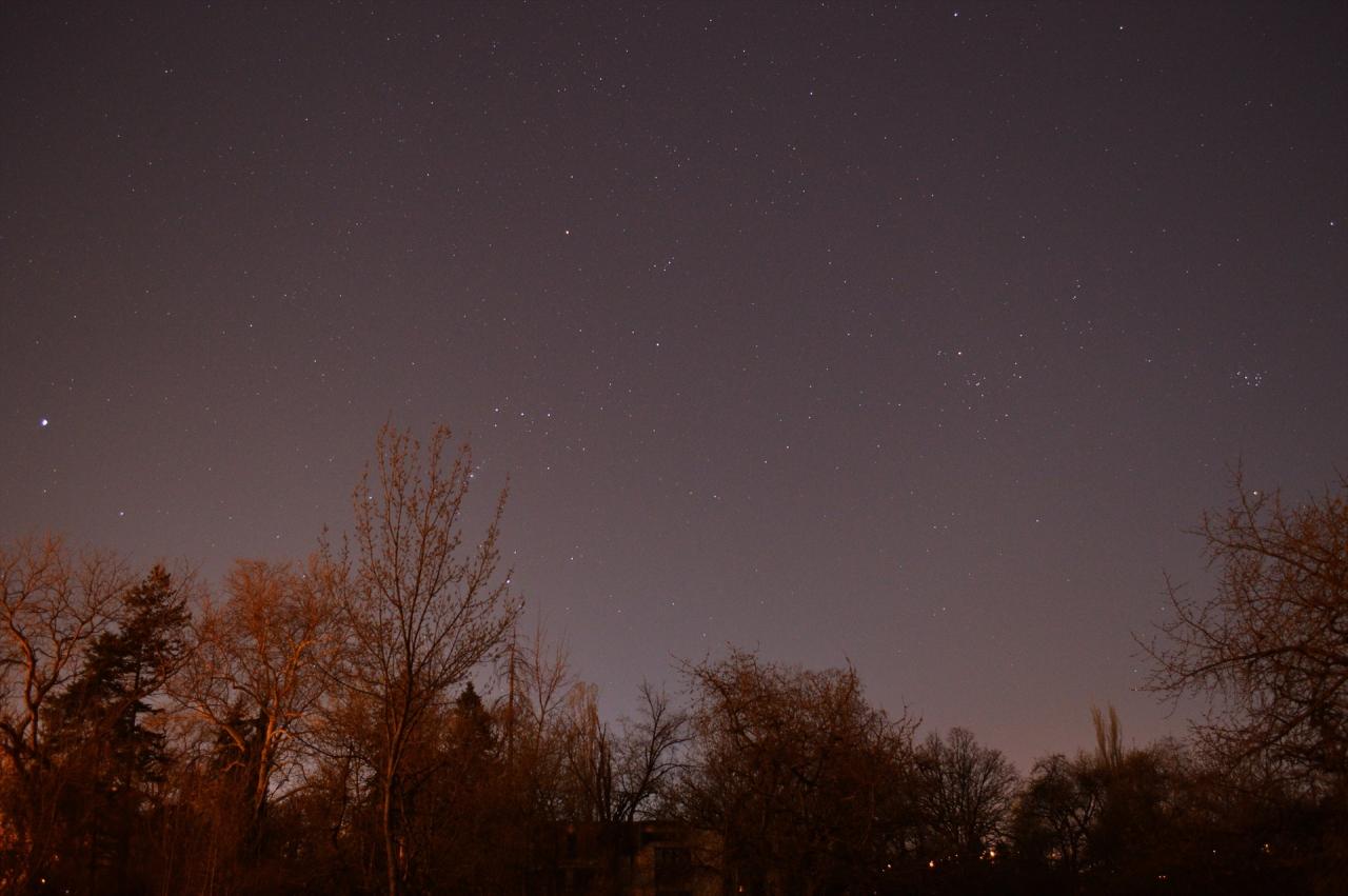 Югозападно вечерно небе-24.03.2019г.