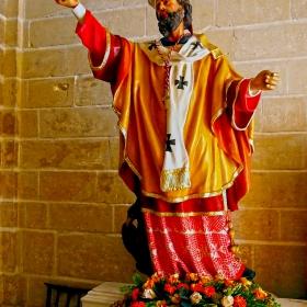 Valletta - Sculpture from St Augustine Church