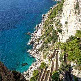 Виа Круп - Пътят на богатите до плажа, Капри