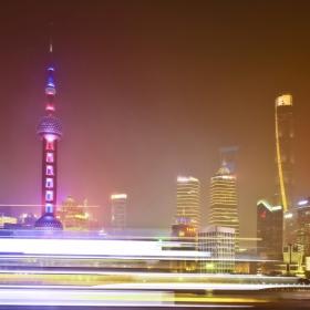 Mist, Fog, and Speed. LuJiaZui, Shanghai