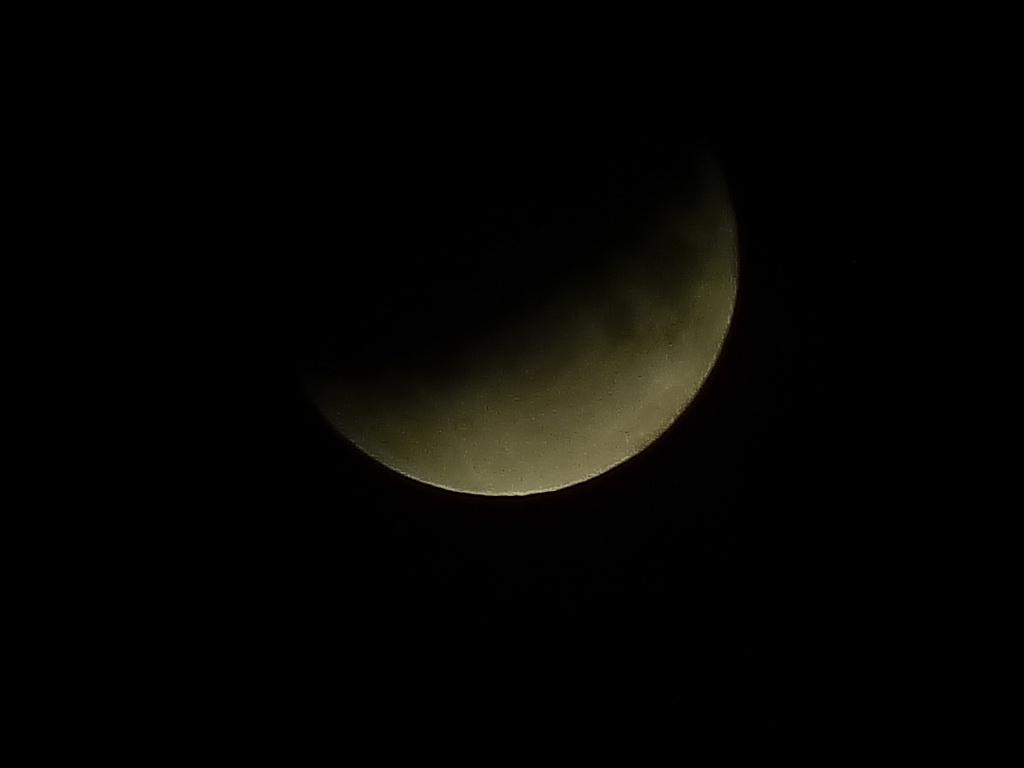 Малко преди максималната фаза на частичното лунно затъмнение 16-17.07.2019г.