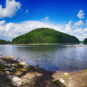Язовир Широка поляна панорамно