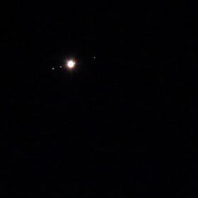 Юпитер с 4-те Галилееви спътника на 8.07.2019г.