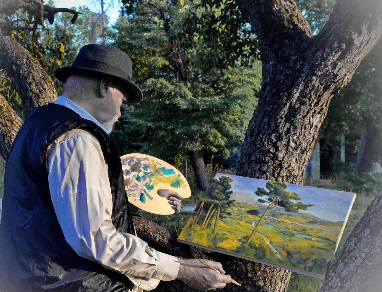 Пол Сезан рисува планината Монт Сент Виктоар в над 80 картини
