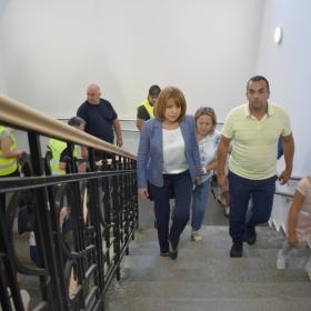 Инспекция на Кмета на София г-жа Йорданка Фандъкова в нов учебен корпус
