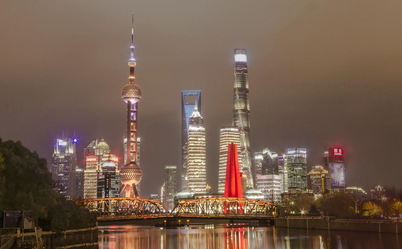 Suzhou Creek, Waibaidu Bridge, LuJiaZui, Shanghai
