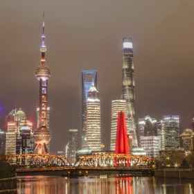 Suzhou Creek, Waibaidu Bridge, LuJiaZui, Shanghai