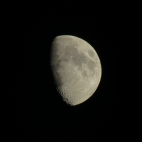 The moon, with 65 X optical zoom, Canon PowerShot SX60 HS