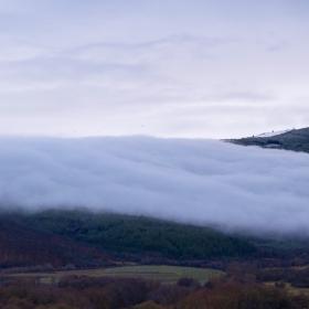Мъгла се спуска от прохода Арабаконак
