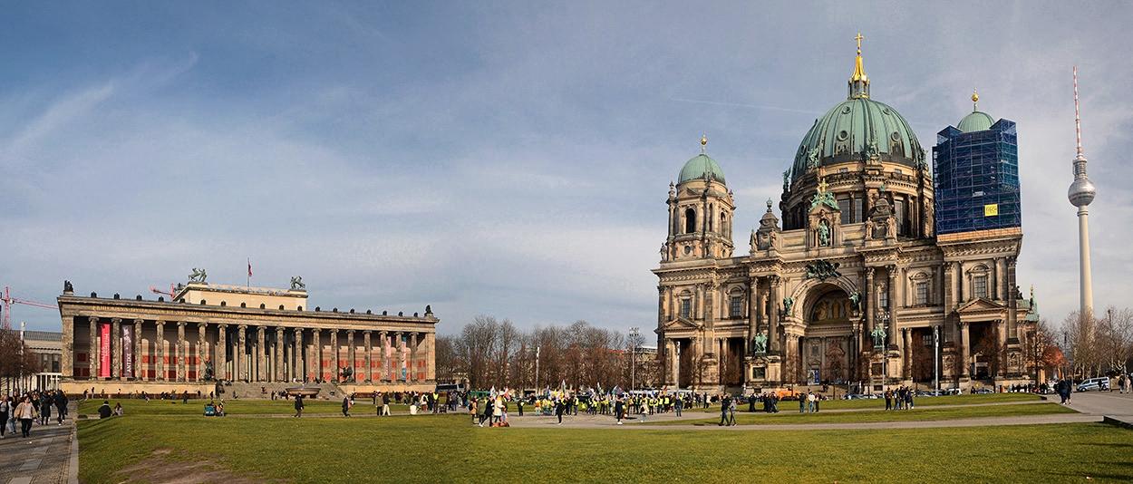 Февруарско пред  Берлинската катедрала