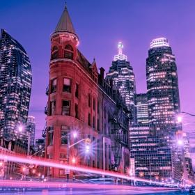 Blue Hour. Wintry Toronto