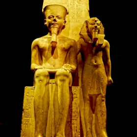 Turin - Egyptian Museum - Statue of Horemheb with Amun