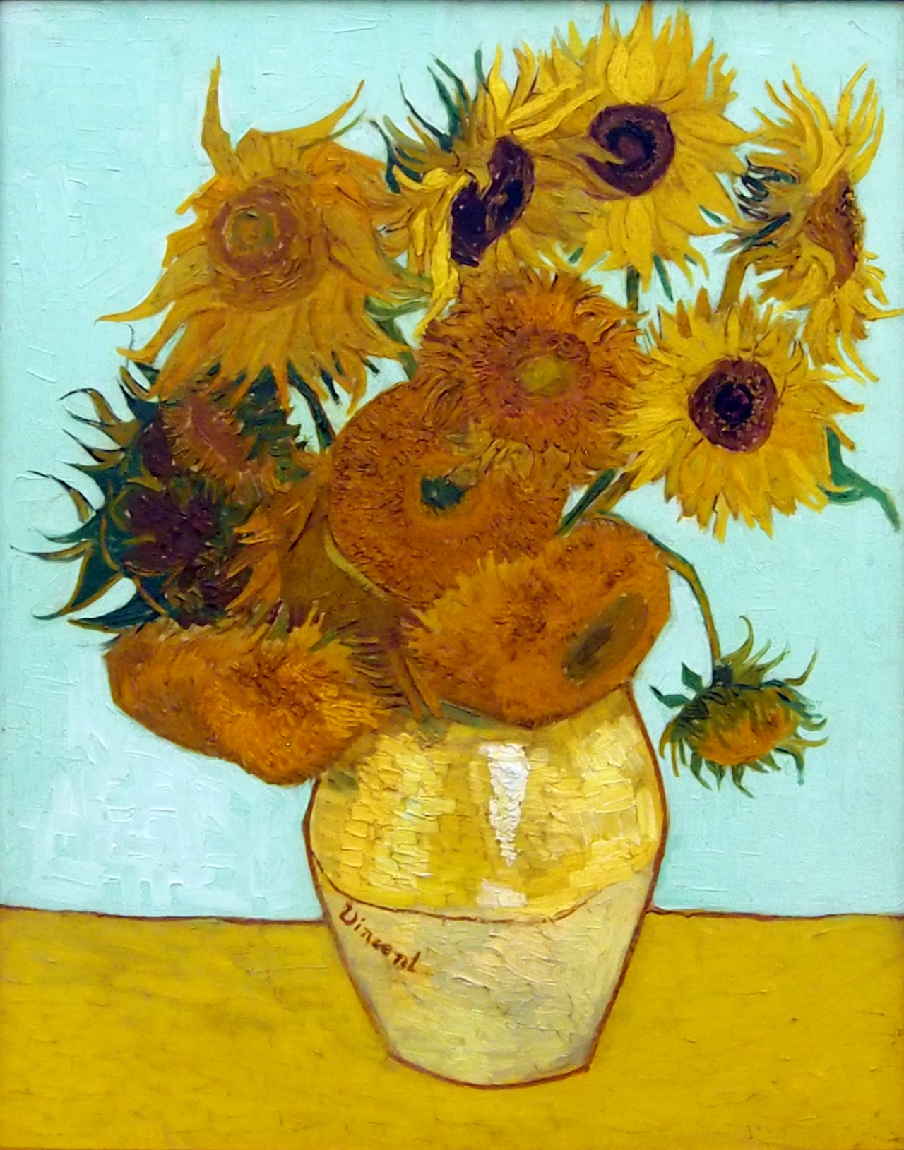 Van Gogh s Sunflowers 1888, from the Neue Pinakothek museum in Munich