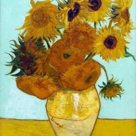 Van Gogh s Sunflowers 1888, from the Neue Pinakothek museum in Munich