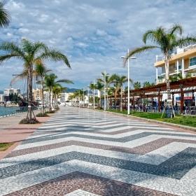 Пешеходна алея край пристанището на Гандия - Sendero cerca del puerto de Gandia