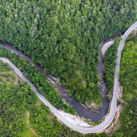 Меандрите на река Чая