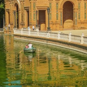 Sevilla - Plaza de Espana - Viaje en barco
