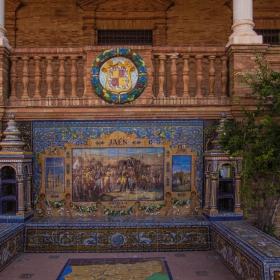 Plaza de Espana Sevilla Bancos de Ceramica