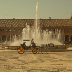 Sevilla - Plaza de Espana - La Fontana