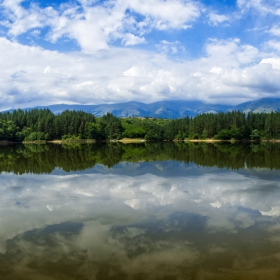 Панорама от язовир Душанци