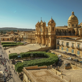 Noto - Sicilia - The Cathedral of St. Nicolo and its surroundings