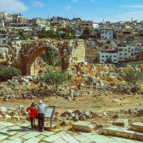 Всред руините на Джераш - Йордания